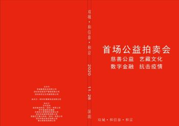 双城·和信泰·和京 首场公益慈善拍卖会电子杂志