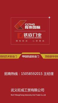 隆泰国际旗下品牌《铁成门业》电子画册