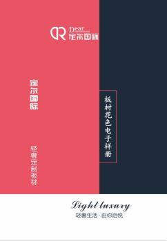 定尔国际板材电子色卡A版电子宣传册