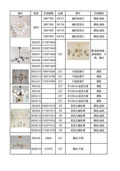 红米现代简约吊灯电子画册