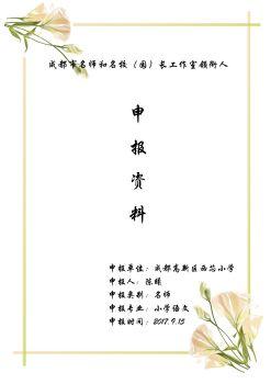 陈曦:成都市第二届名师工作室申报 - 设计电子书