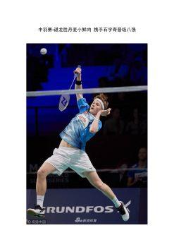 中国羽毛球公开赛-谌龙胜丹麦小鲜肉 携手石宇奇晋级八强