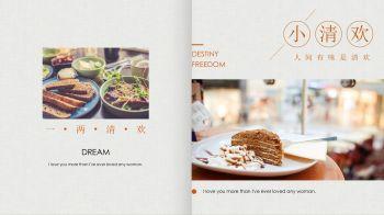 小清欢人间有味是清欢美食杂志PPT模板