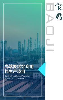 宝鸡市高端聚烯烃专用料生产项目电子画册