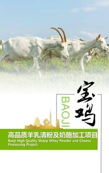 宝鸡市高品质羊乳清粉及奶酪加工项目电子宣传册