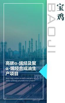 宝鸡市高碳α-烯烃及聚α-烯烃合成油生产项目电子画册