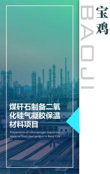 宝鸡市煤矸石制备二氧化硅气凝胶保温材料项目电子刊物