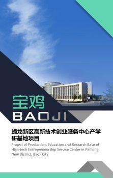 宝鸡市蟠龙新区高新技术创业服务中心产学研基地项目电子宣传册