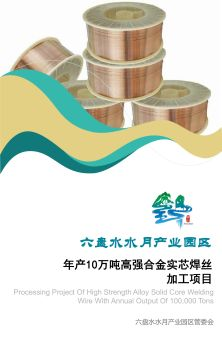 六盘水水月产业园区年产10万吨高强合金实芯焊丝加工项目电子画册