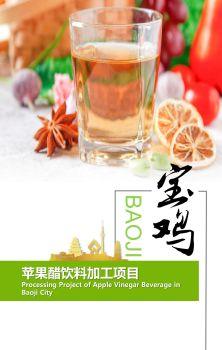 宝鸡市苹果醋饮料加工项目宣传画册