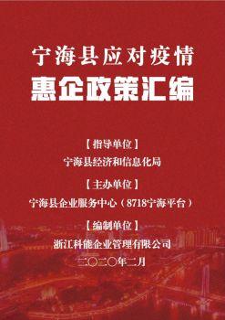 宁海县应对疫情惠企政策汇编 电子书制作软件