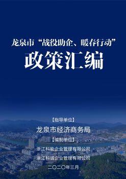 龙泉市应对疫情惠企政策汇编宣传画册