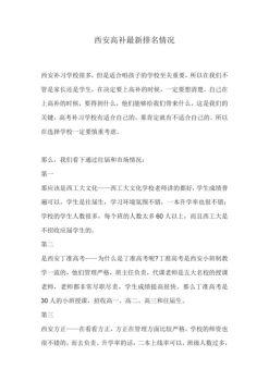 西安补习学校排名电子宣传册