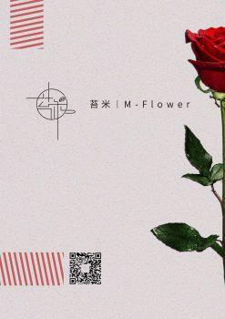 苔米插花课程宣传册