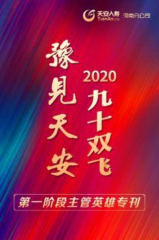 """《豫见天安》2020年""""九十双飞""""第一阶段主管英雄专刊电子画册"""