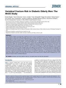 研究老年男性糖尿病患者的椎体骨折风险电子宣传册