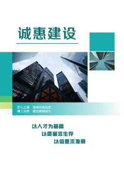 诚惠建设企业宣传画册电子书