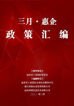 丽水工业园区管委会三月惠企政策汇编电子画册