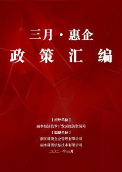 丽水市三月惠企政策汇编(开发区)电子画册