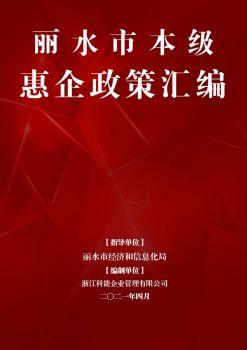 丽水市本级惠企政策汇编电子宣传册