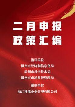 二月申报政策汇编电子画册