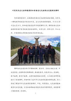 叶昊院长应文旅部邀请参加青海省文化旅游业发展规划调研电子画册
