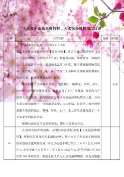 天水麦积山温泉度假村、天水民俗博物馆二日游电子画册