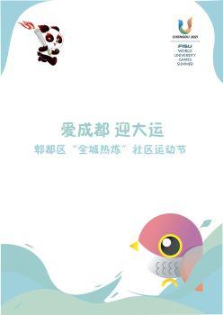 """2020成都市郫都区""""全城热炼""""社区运动节宣传画册"""