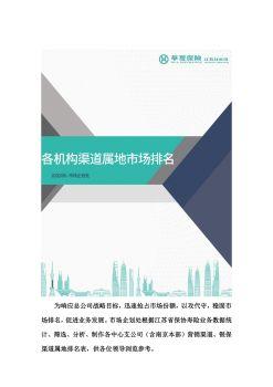各机构渠道属地市场排名宣传画册