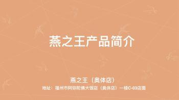 燕之王(奥体店)产品简介电子书