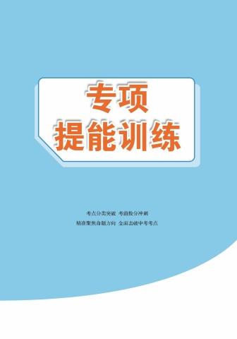 22版歷史部編版廣東專版《金榜中考》專項提能電子書