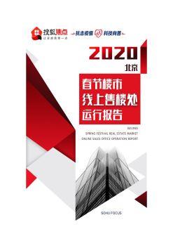 2020年春节楼市线上售楼处运行报告(更新)电子刊物