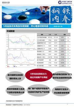 中联钢钢铁内参2020年5月月刊 电子书制作软件