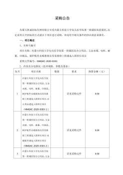 内蒙古科技大学包头医学院第一附属医院办公用品、五金电料、被服、印刷品、水暖维修、零星维修工程项目维遴选入围单位项目公告电子画册