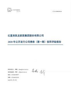 4 红星美凯龙家居集团股份有限公司2020年公开发行公司债券(第一期)信用评级报告电子画册