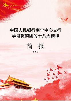 中国人民银行南宁中心支行学习贯彻团的十八大精神简报第1期宣传画册