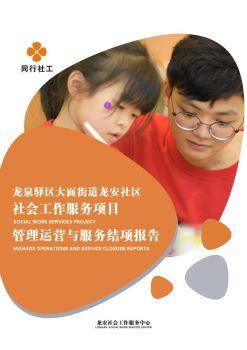 龙安社区社会工作服务中心结项报告